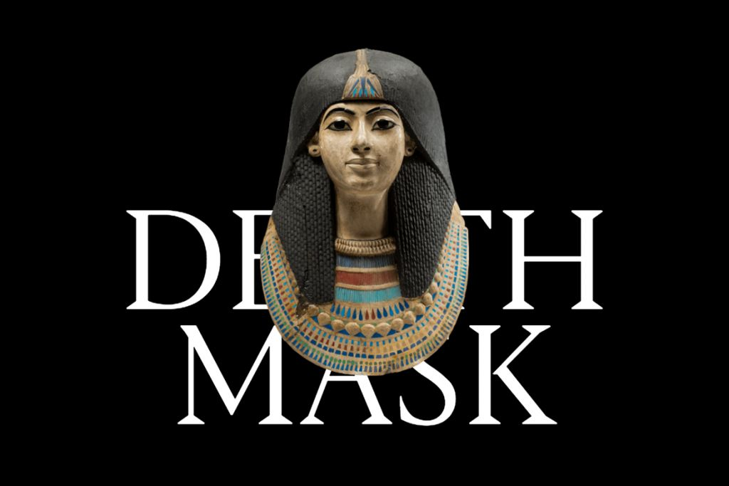 Egyptian death mask from the Art and History Museum