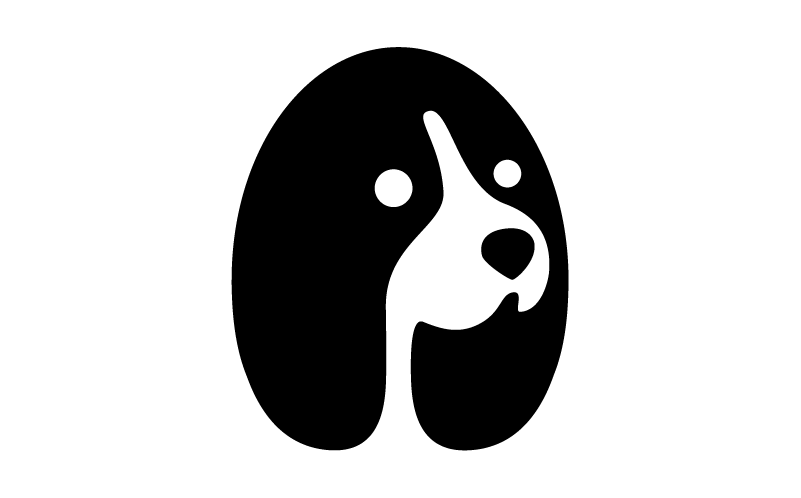 George Bokhua negative logo design