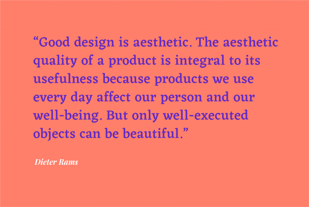 10 Principles for Good Design quote by Dieter Rams