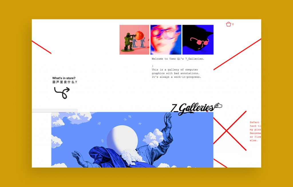 Tomo Qi web design inspiration