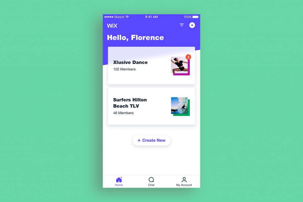 Wix Mobile App button design
