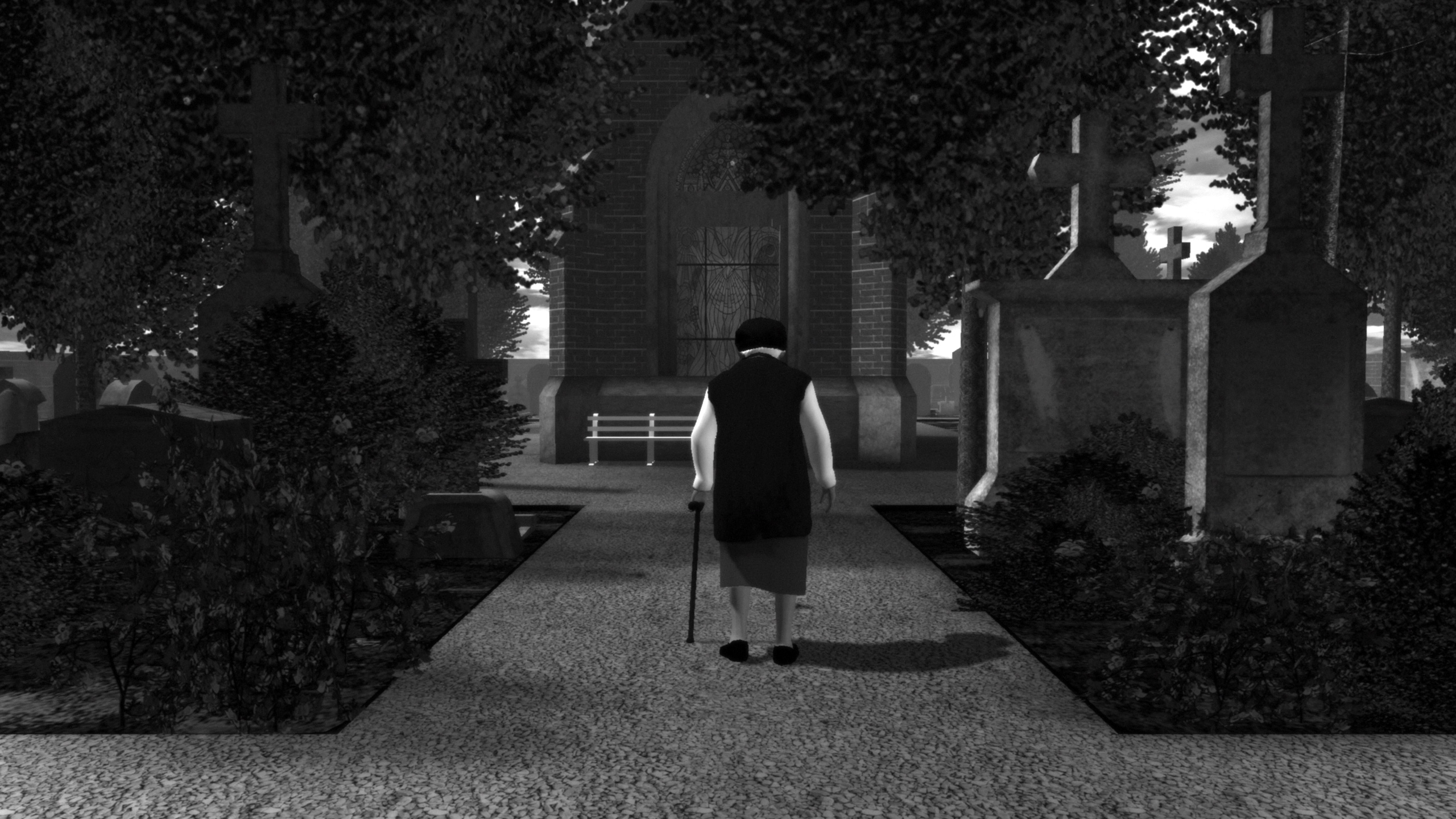 Screenshot of Graveyard video game by Auriea Harvey & Michael Samyn