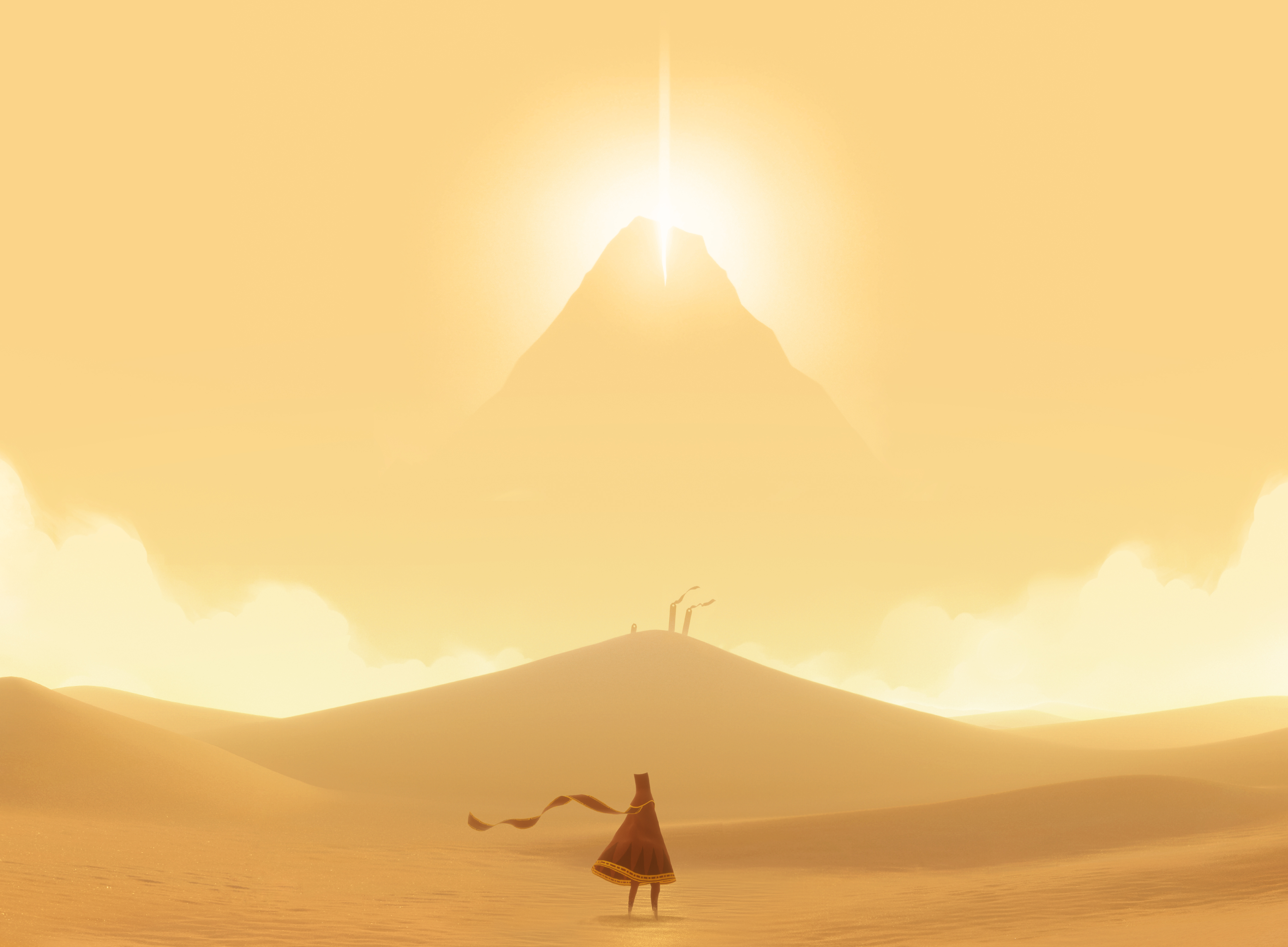 Screenshot of Journey video game by Thatgamecompany