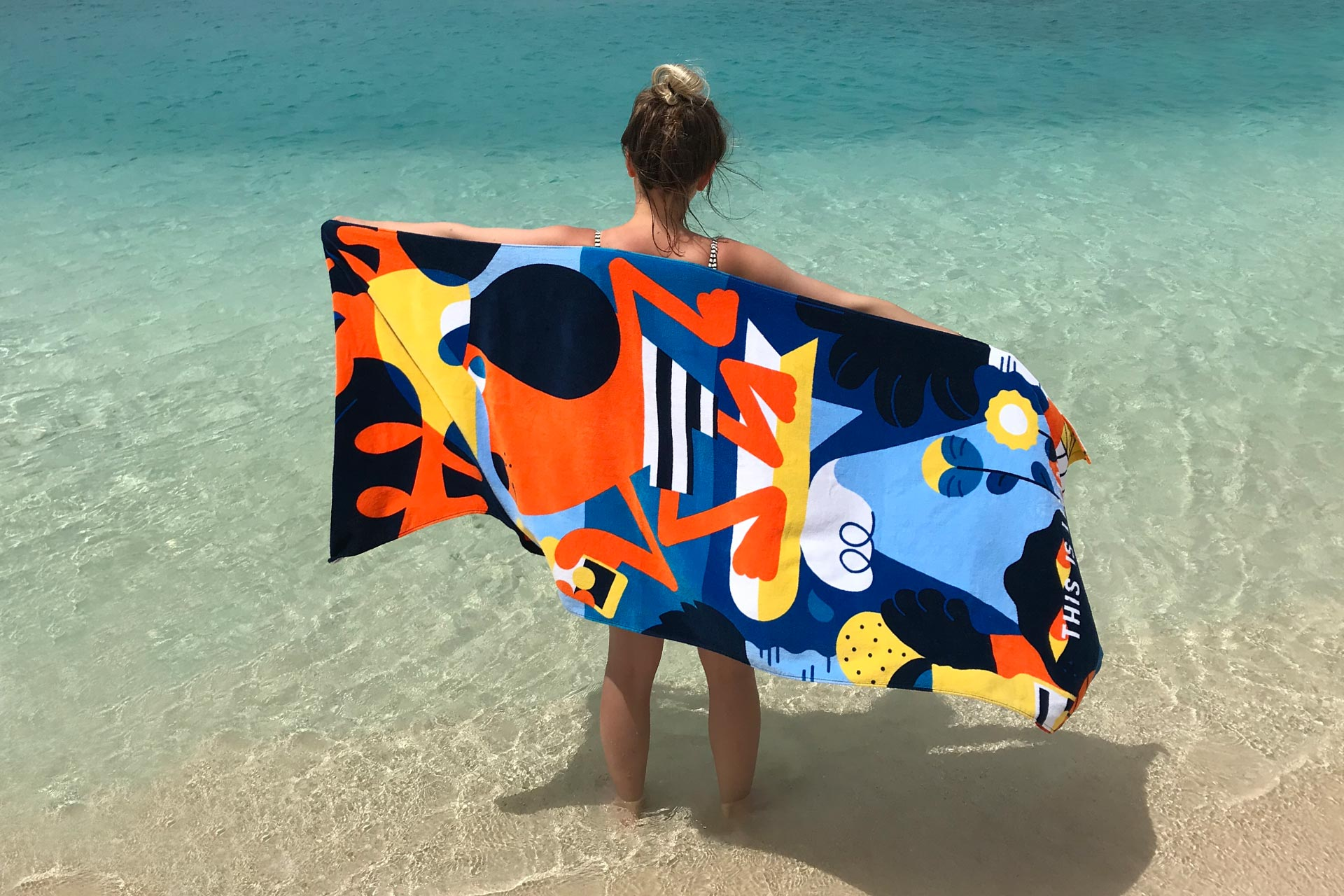 Hedof's beach towel illustration for Corona
