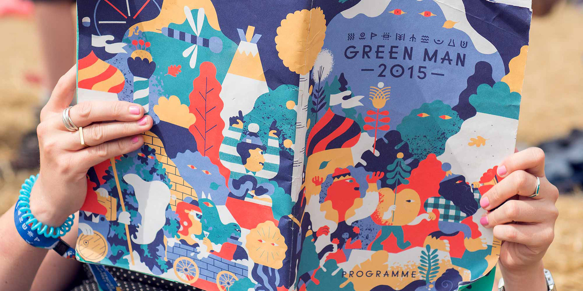 Hedof's identity design for Green Man festival.