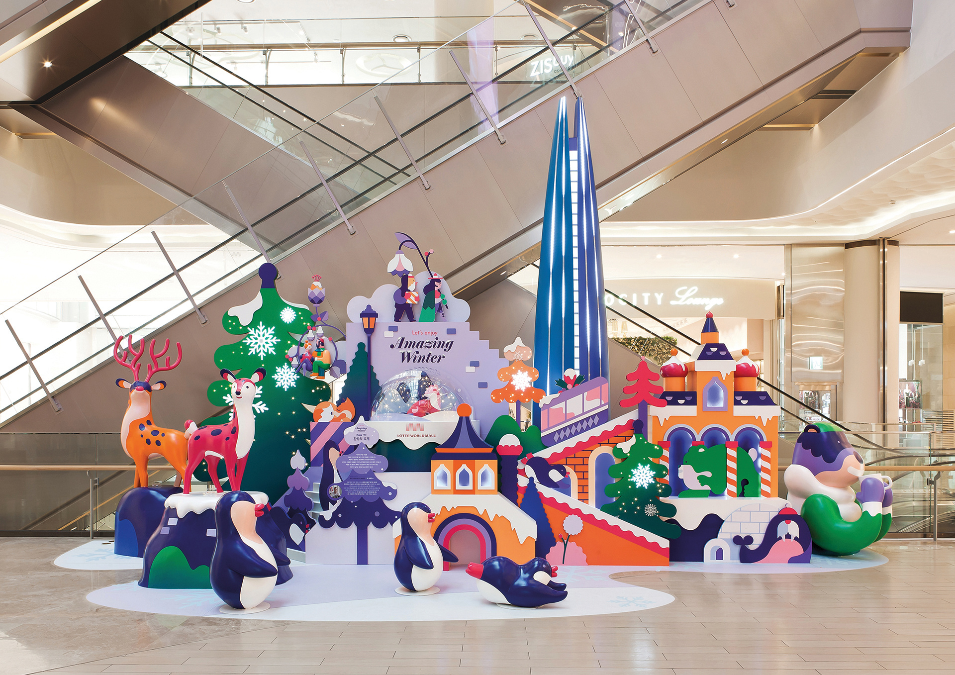 Hedof's project at Lotte World Mall, in Seoul, Korea