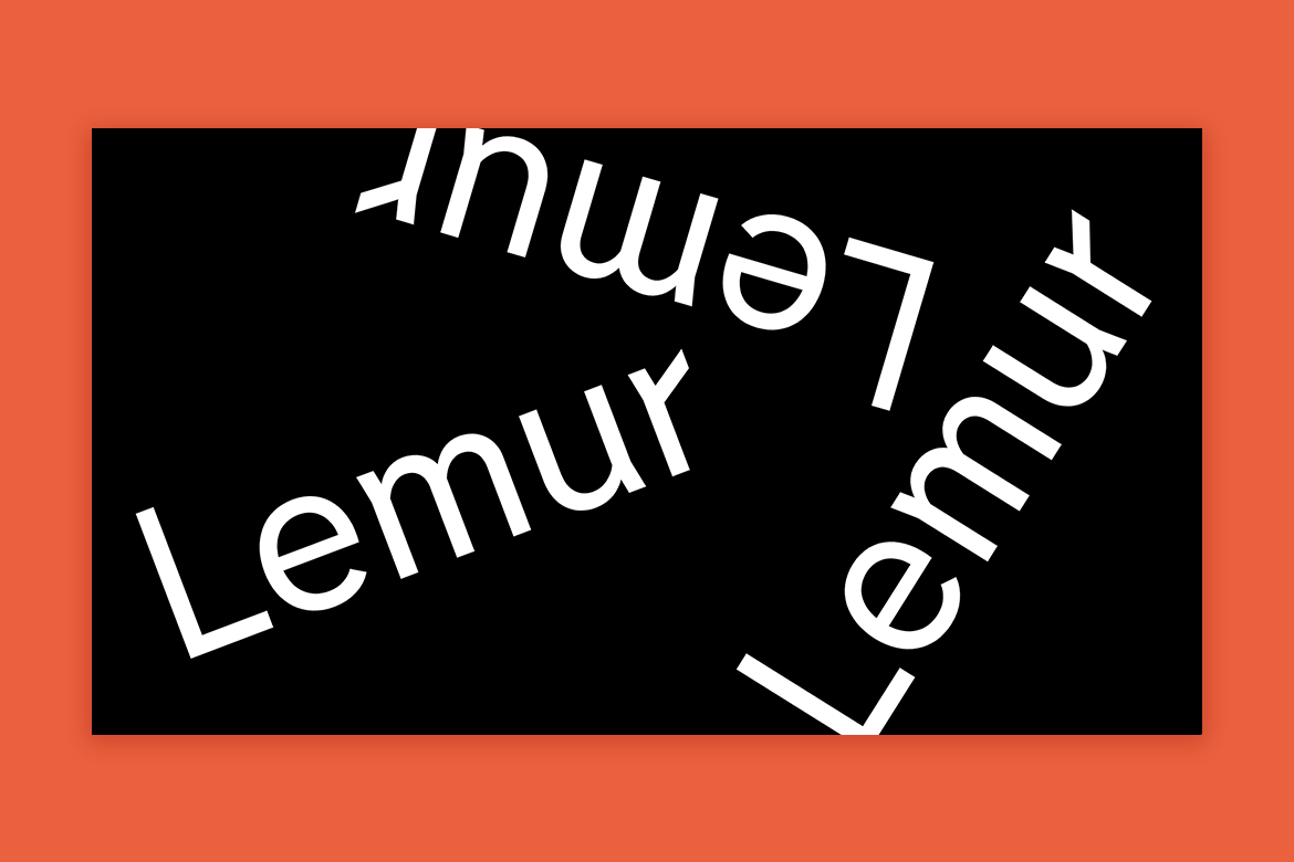 Lemur typeface by Tightype