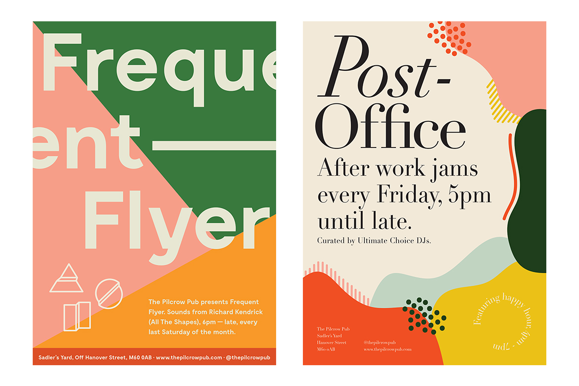 Font pairings. Poster design by Hannah Valentine