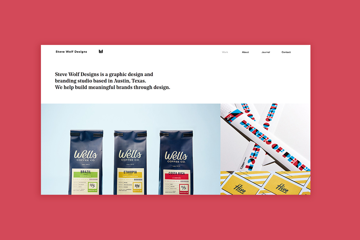 Wix graphic design website by Steve Wolf Designs