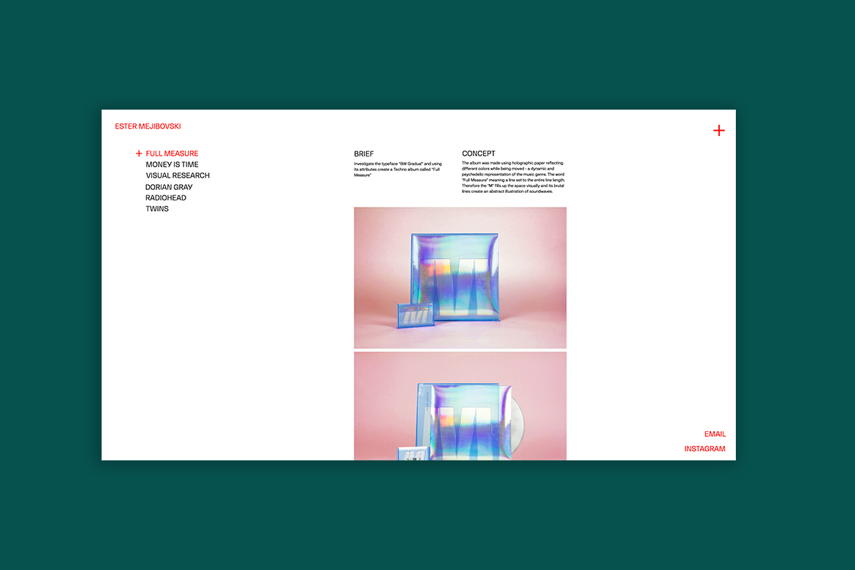 Wix graphic design portfolio by Ester Mejibovski