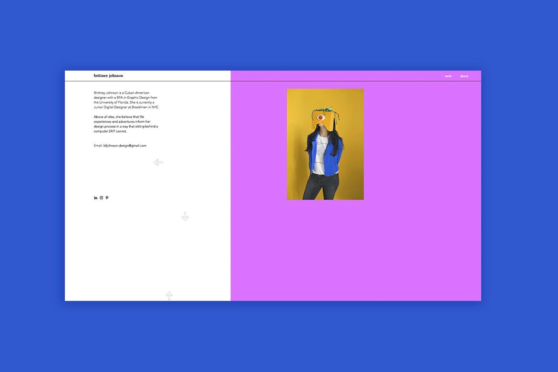 Wix graphic design portfolio by Brittney Johnson
