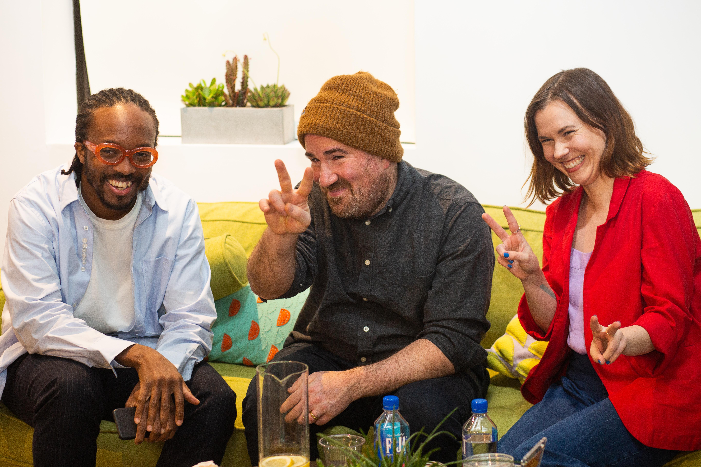Designers Nicole Ginelli, Zack Liberman and Ekene Ijeoma