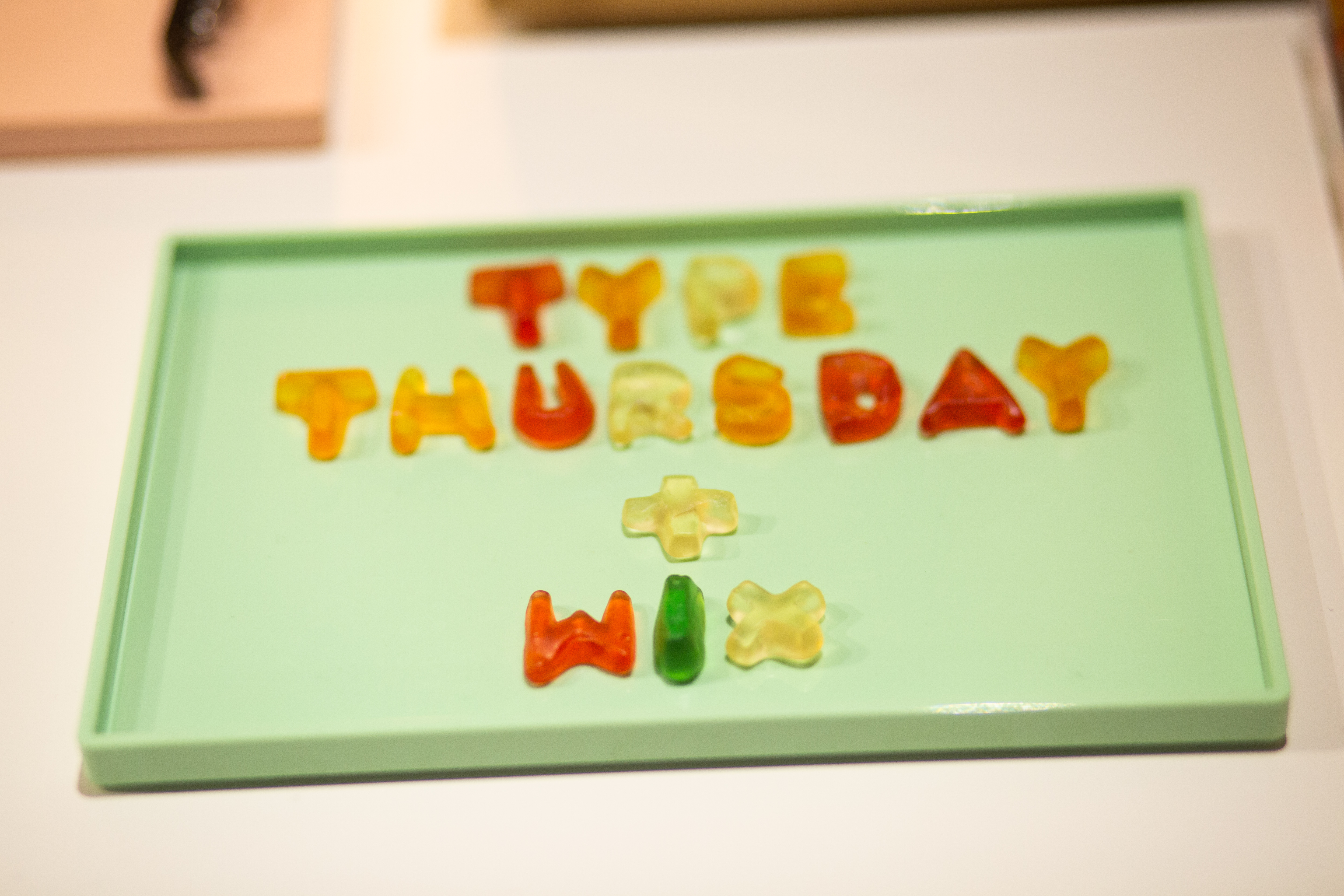 Gummy bear lettering. Type Thursday and Wix.