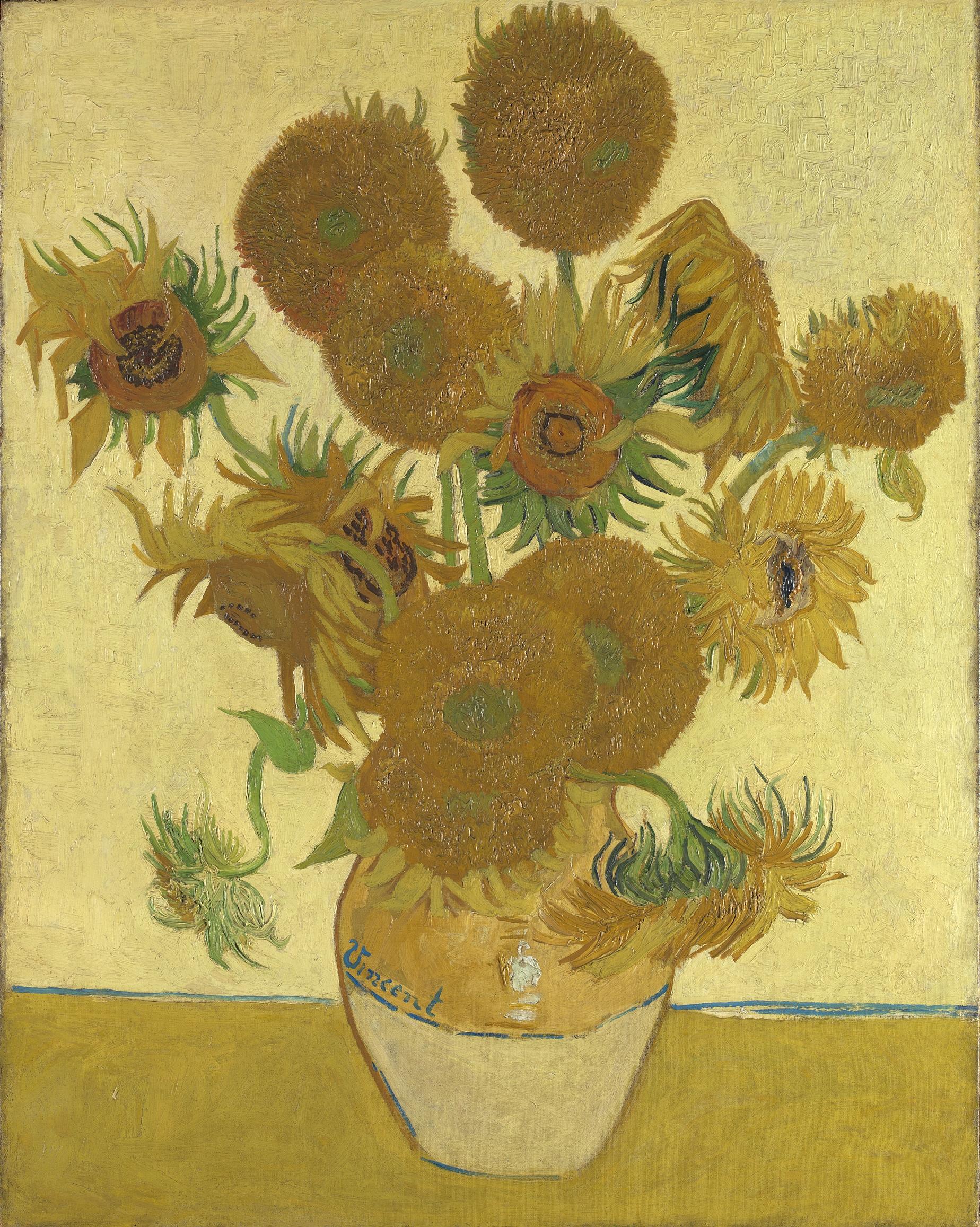 Vincent van Gogh (1853 – 1890) Sunflowers, 1888, Oil paint on canvas