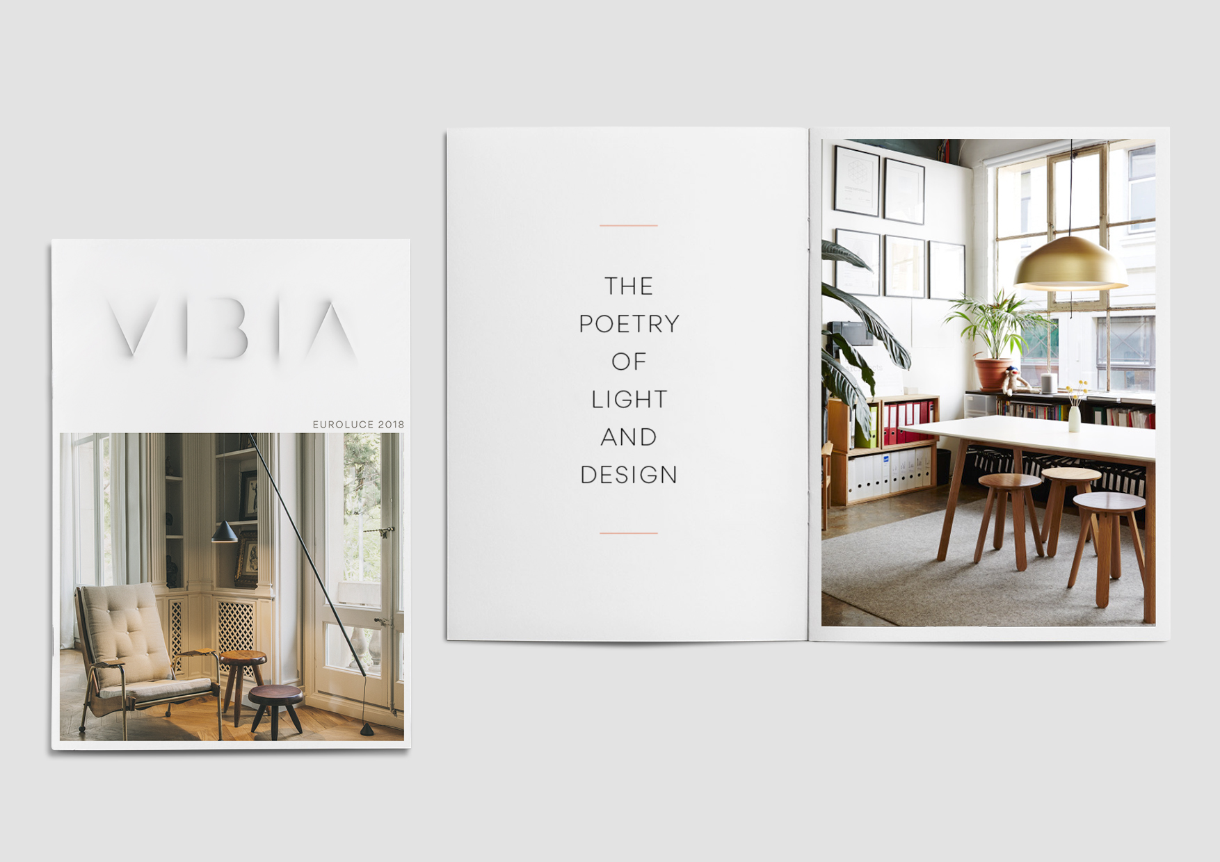 Brand identity for Vibia by Marina Willer, Pentagram