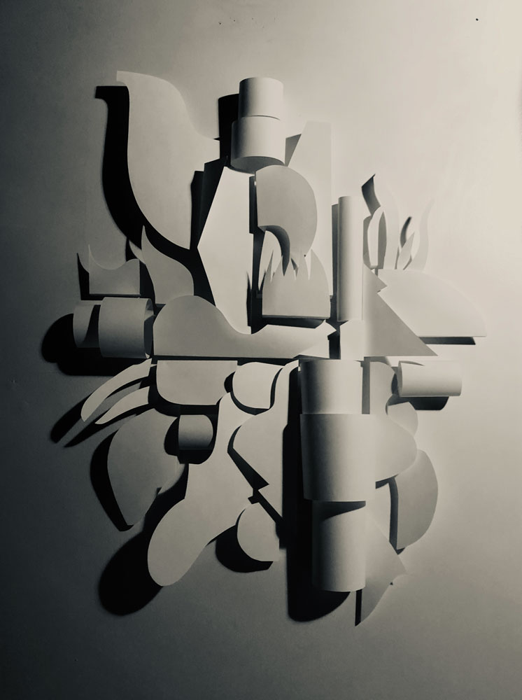 Abstract paper sculpture by Ryan Seslow