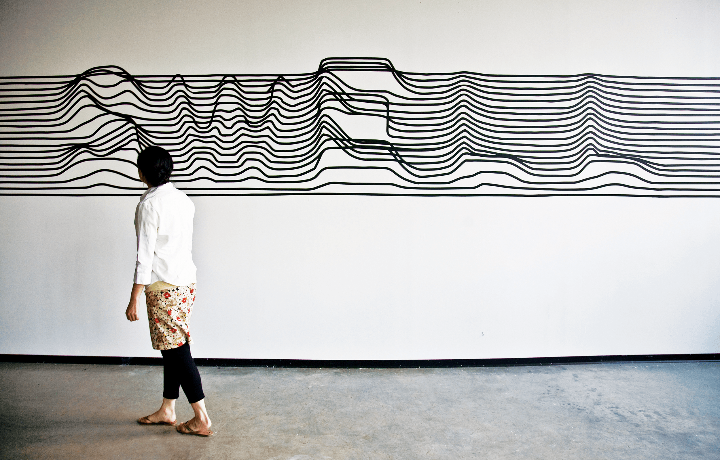 Exhibition view of Swell by Synoptic Office