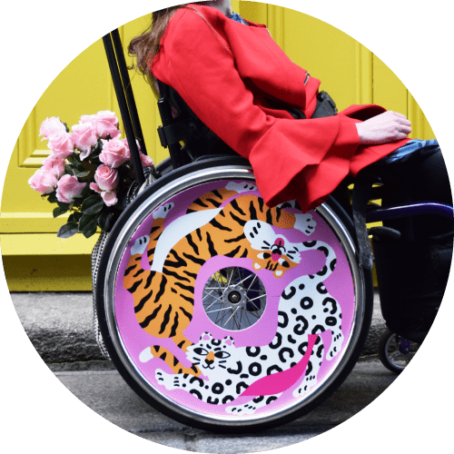 Wheel cover design by Marylou Faure, for Izzy Wheels