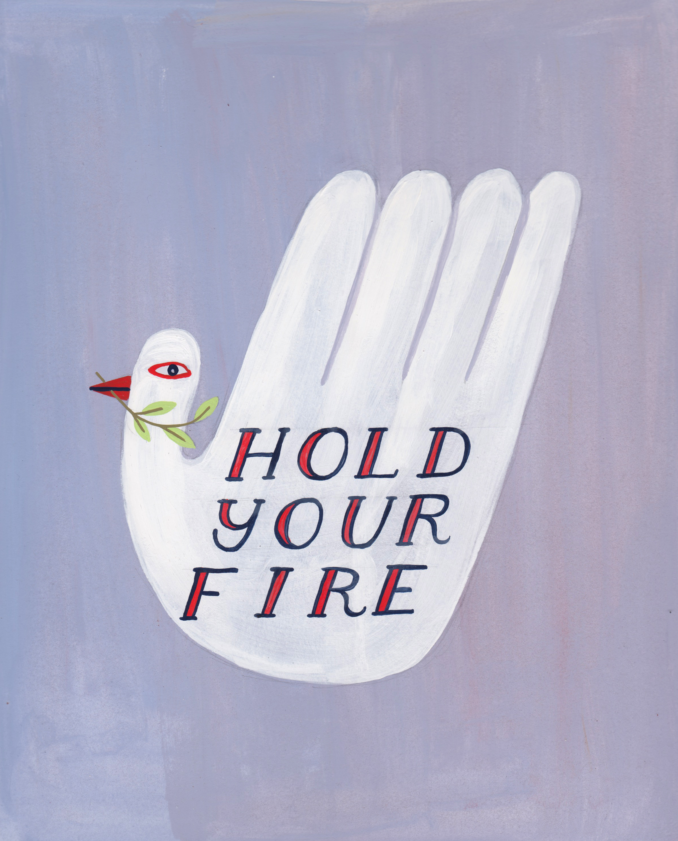 Hold Your Fire illustration by Kristina Filler