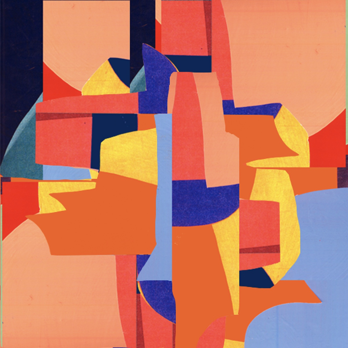 Abstract collage work by Ryan Seslow