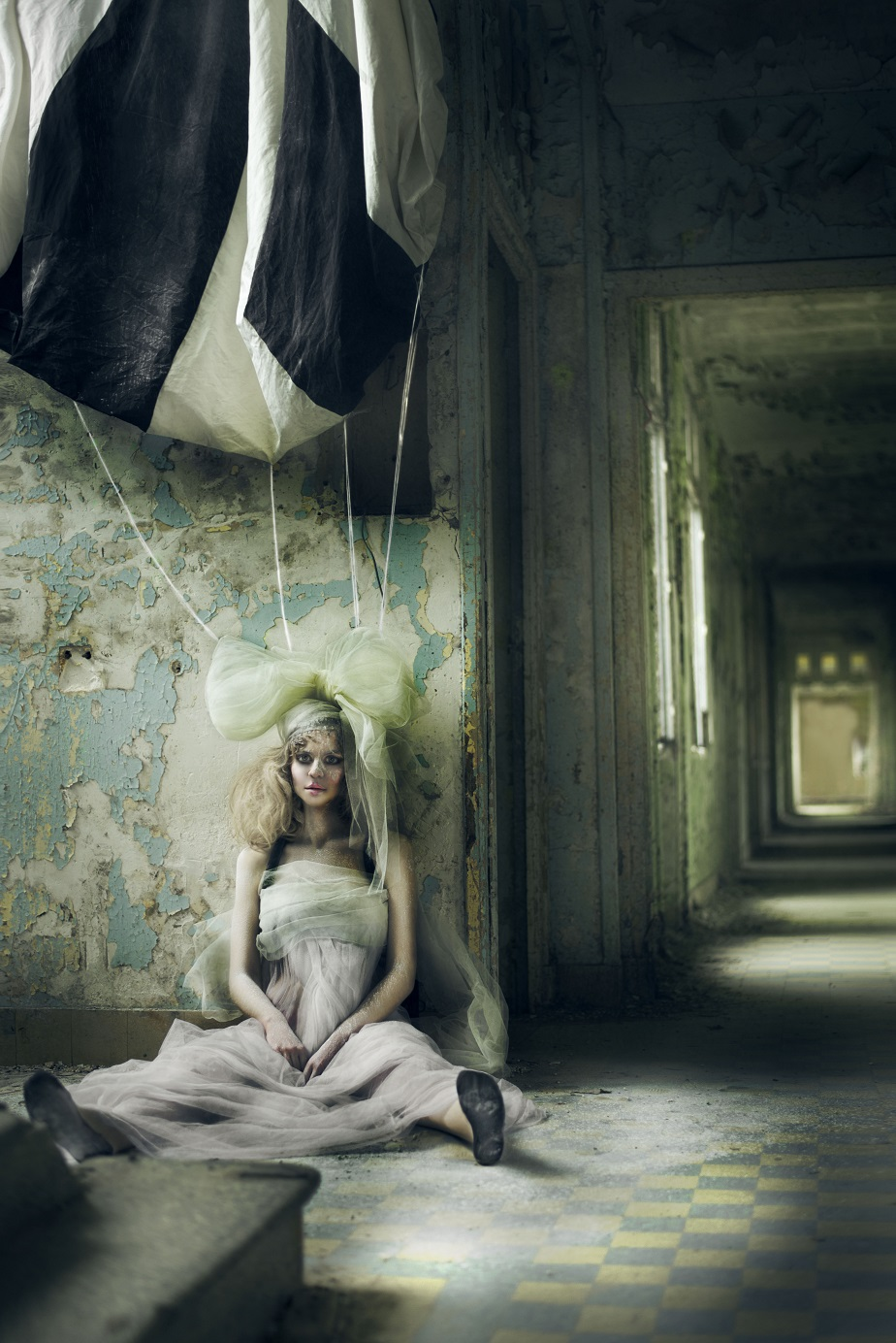 Portrait of a girl dressed like a doll by Wix Photographer Juliette Jourdain