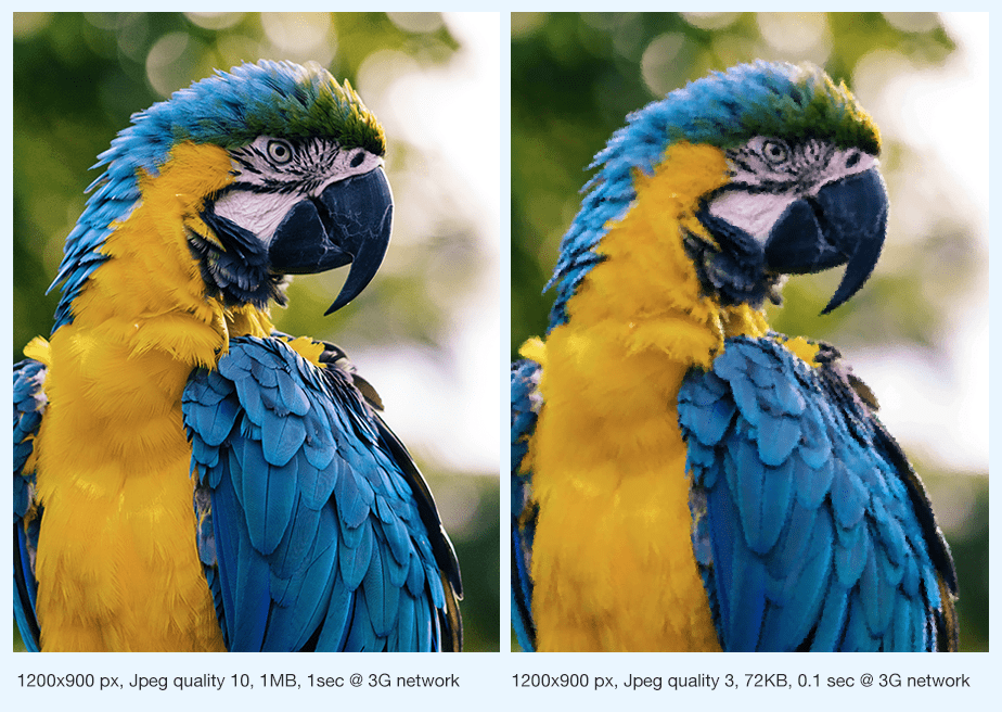 Image optimization through JPEG compression