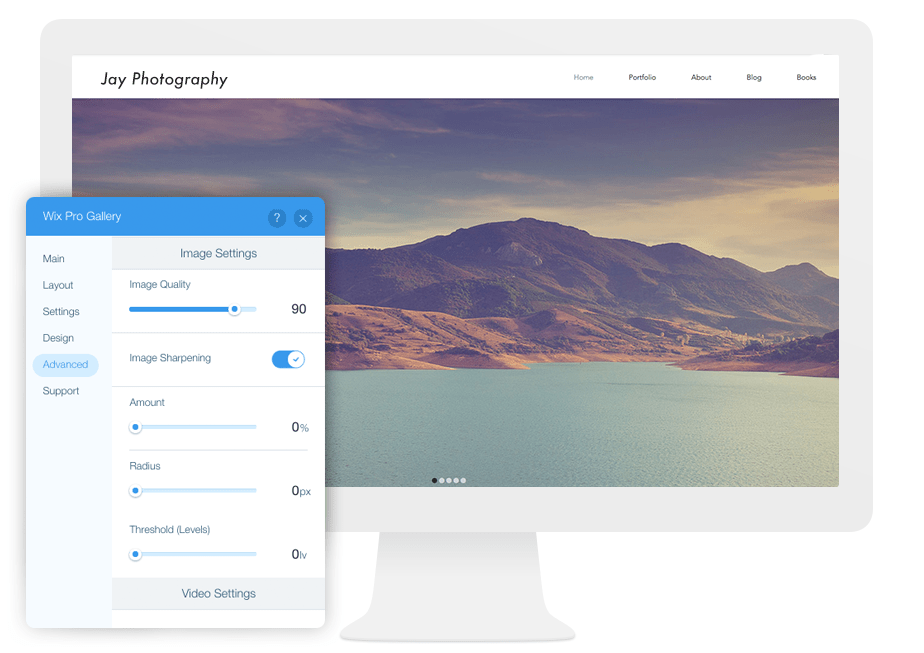 Wix Pro Gallery, the best solution to optimize images of your website