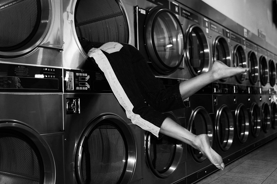 Woman in Washing Machine - Wix Photography