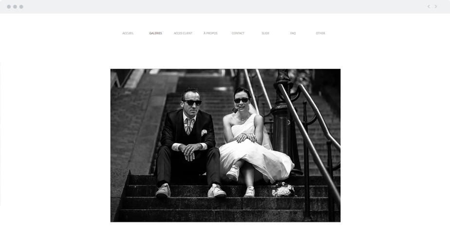 Beautiful Wix photography website by wedding photographer Frederick Lejeune