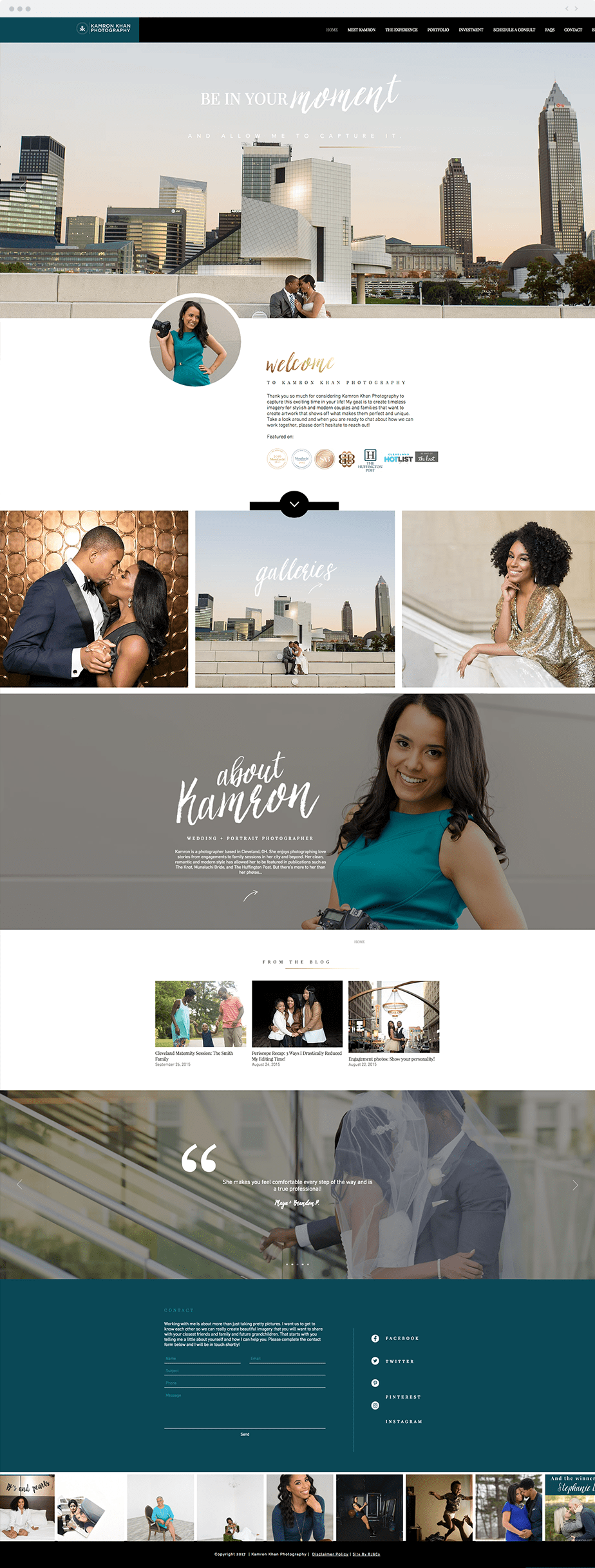 Beautiful Wix photography website by wedding photographer Kamron Khan