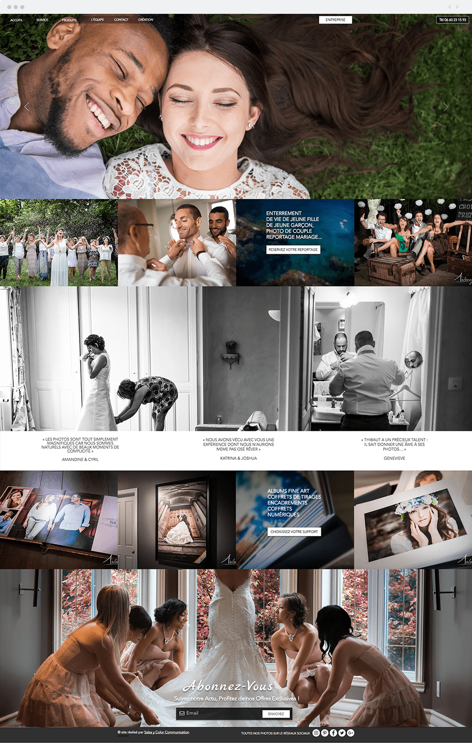 Stunning Wix online portfolio by wedding photographers Artway Studio