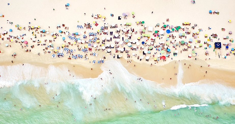 Aerial picture of the beach of Rio de Janeiro by Wix Photographer Joshua Jensen-Nagle