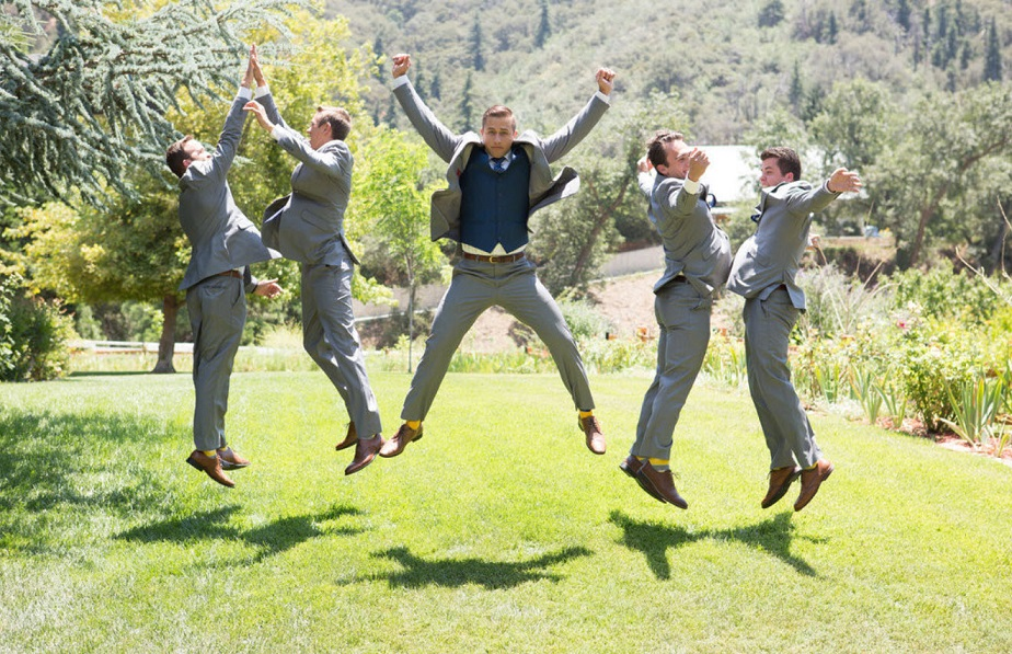 Groom having fun with best men by Wix photographer O'Ryan Empire