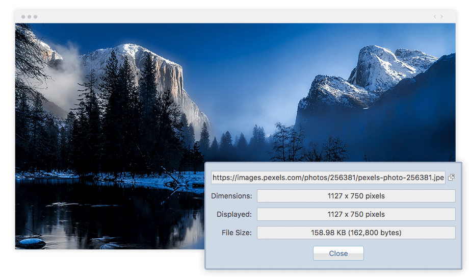 Best Chrome Extensions for Photographers Image Size Info