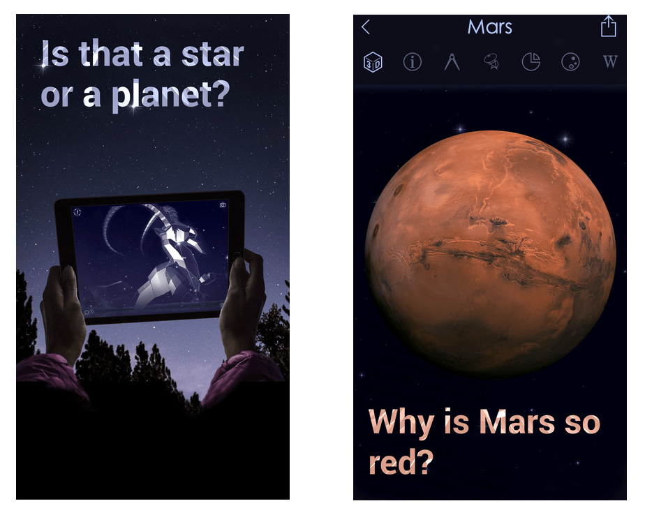 screenshot of Star Walk II app