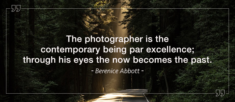 Berenice Abbott quote