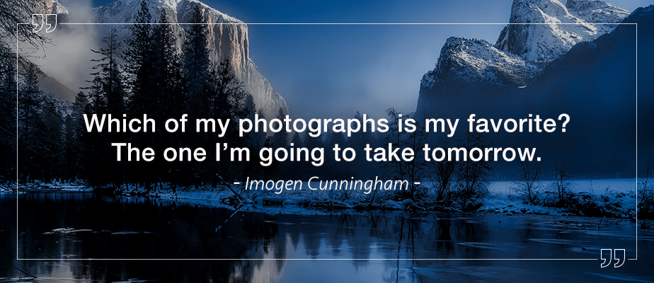 Imogen Cunningham quote