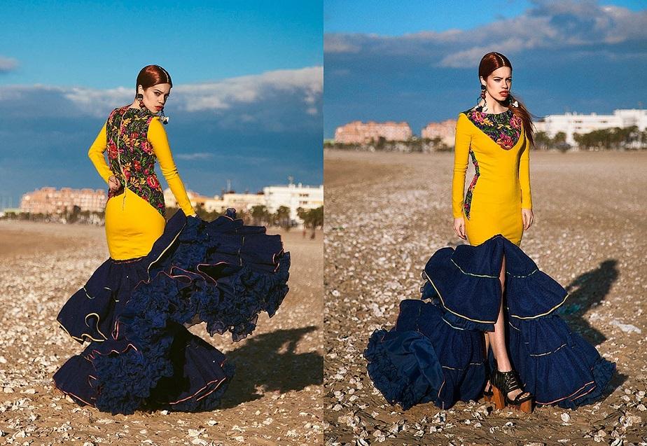 Photo Shoot of Flamenco Dancer in Yellow Dress by Wix Photographer Carlos Villarejo