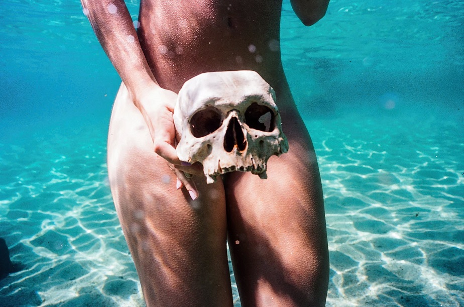 Skull in a Swimming Pool by Wix Photographer Dalton Gaudin