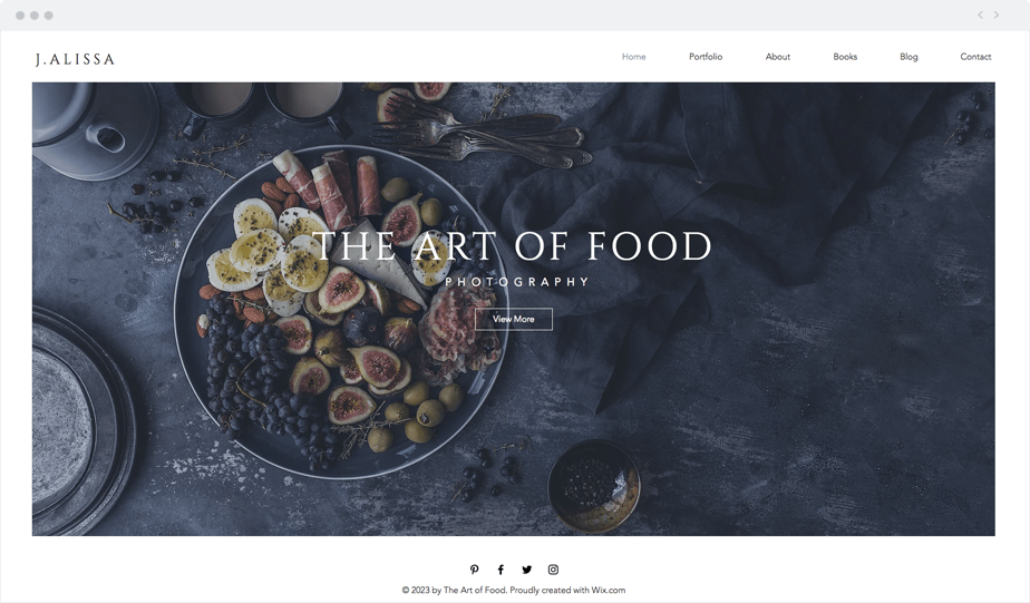 Delicious food photography website template for free