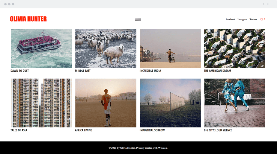 beautiful photography website template for photojournalist