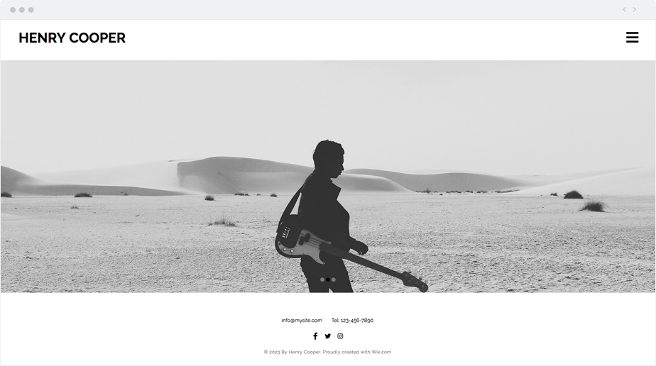 Beautiful and free template for street photographer website