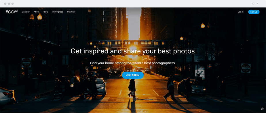 Use 500px as an image hosting platform