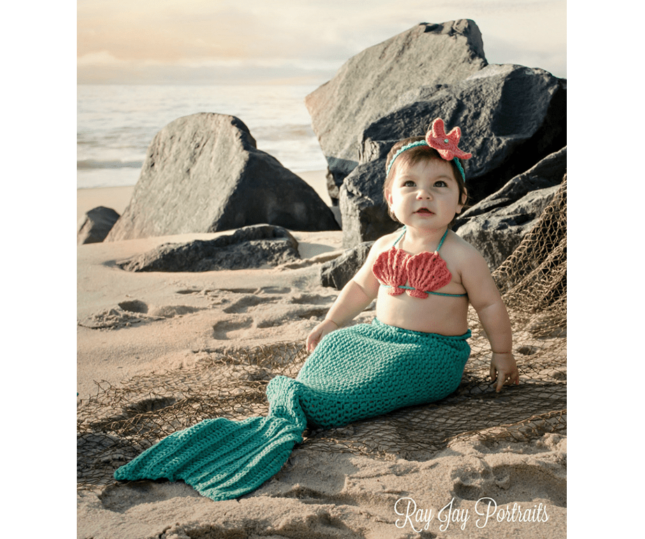 baby dressed as a mermaid