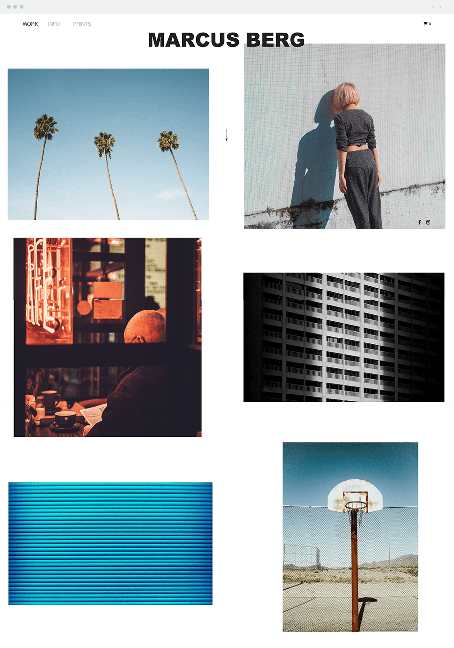 Art Photographer website template