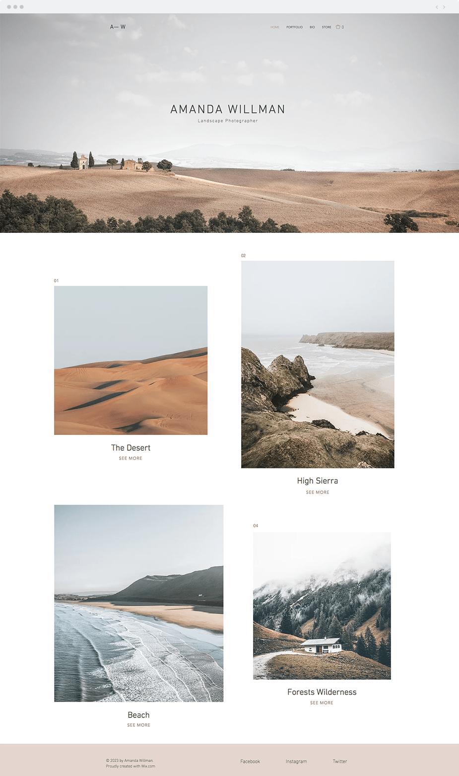 Landscape Photography template