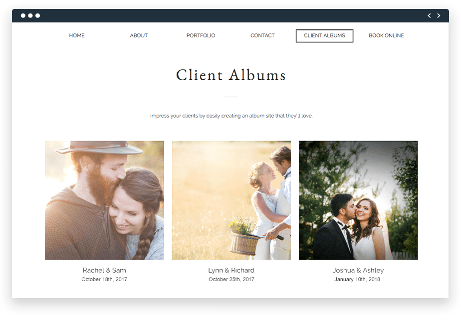 online wedding photo albums