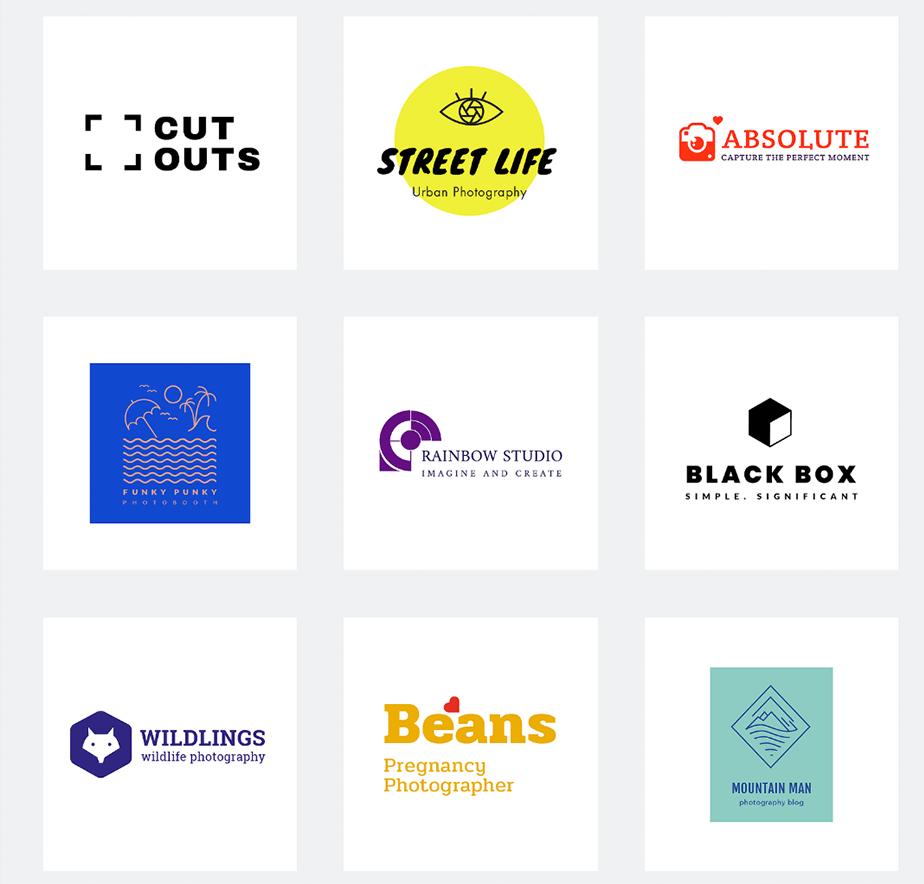 photographer logo design examples