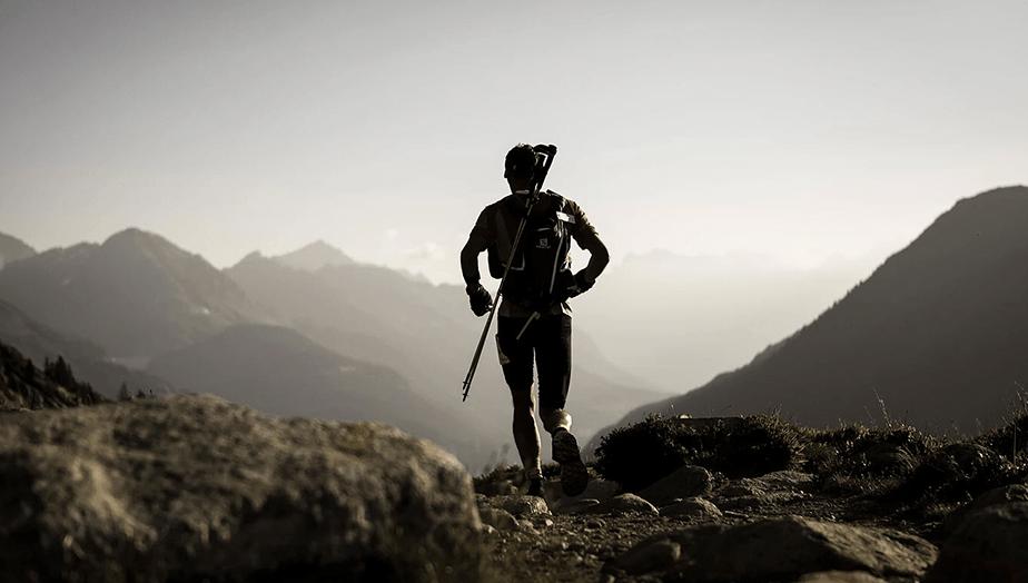 mountain runner silhouette